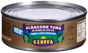 Genova® Very Low Sodium Albacore Tuna In Pure Olive Oil  5 oz. Can