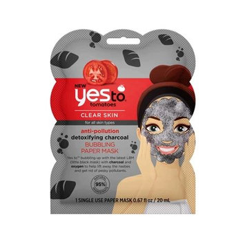 yes to® Tomatoes Anti-Pollution Detoxifying Charcoal Bubbling Paper Mask