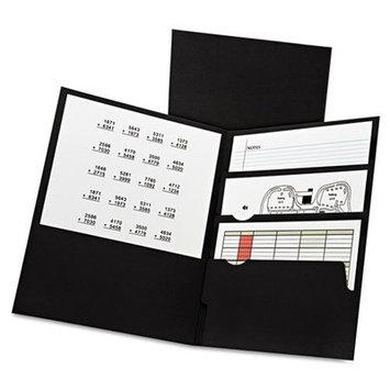 Oxford Divide-It-Up 4-Pocket Paper Folder Black, 20/bx