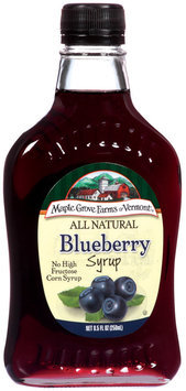 Maple Grove Farms Blueberry Syrup 8.5 Oz Glass Bottle