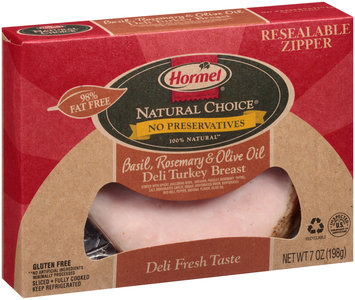 Hormel® Natural Choice® Basil, Rosemary & Olive Oil Deli Turkey Breast