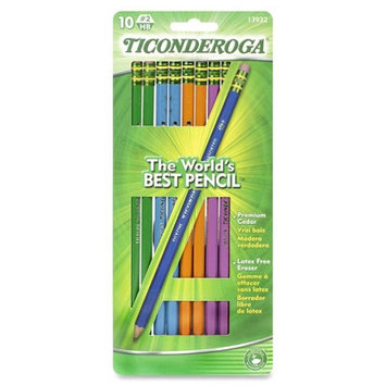 Ticonderoga #2 Pencils Assorted Colors 10 Count