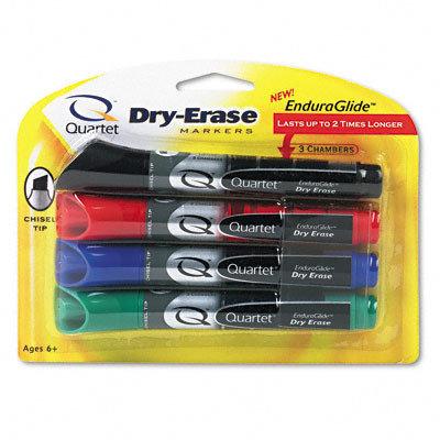 Quartet QRT5001M EnduraGlide Dry-Erase Markers Pack of 4