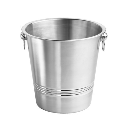 Kraftware 71496 Brushed Stainless Steel 2 - Tone Champagne Bucket