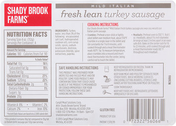 Shady Brook Farms® Mild Italian Fresh Lean Turkey Sausage 16 oz. Tray