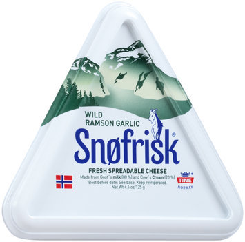 Snofrisk® Wild Ramson Garlic Fresh Spreadable Cheese 4.4 oz. Container