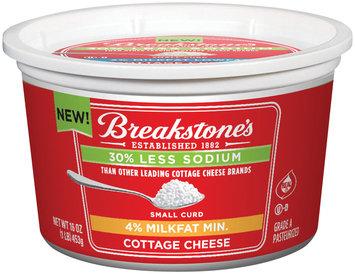 Breakstone's Small Curd 4% Milkfat Min. 30% Less Sodium Cottage Cheese 16 Oz Tub