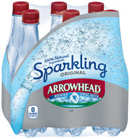Arrowhead® Sparkling Original Mountain Spring Water 6-0.5L Plastic Bottles