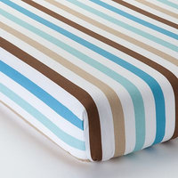 Bacati Mod Diamonds & Stripes Fitted Crib Sheet
