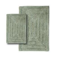 Textile Decor Castle 2 Piece 100% Cotton Racetrack Spray Latex Bath Rug Set, 24 H X 17 W and 30 H X 20 W