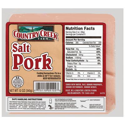 Country Creek Farm  Salt Pork 12 Oz Package