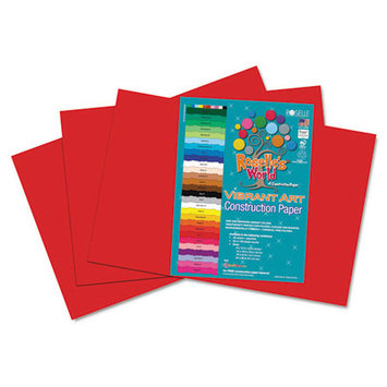 Roselle Paper Co 61902 Heavyweight Construction Paper 58 Lbs. 12 X 18 Red 50 Sheets/pack