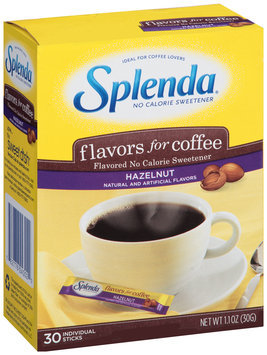 Splenda® Hazelnut Flavors for Coffee No Calorie Sweetener 30 ct Sticks