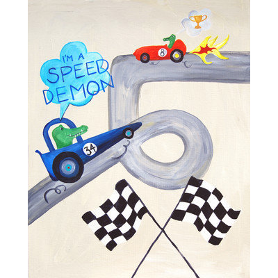Cici Art Factory Words of Wisdom I'm a Speed Demon Print