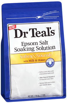 Dr Teal's® Epsom Salt Soften & Nourish Soaking Solution with Milk & Honey 3 lb. Bag