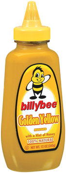 Mustard Golden Yellow Billybee Mustard 12 Oz Squeeze Bottle
