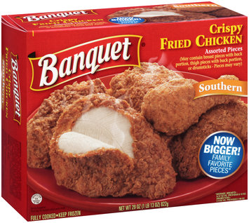 Banquet® Southern Crispy Fried Chicken Assorted Pieces 29 oz. Box