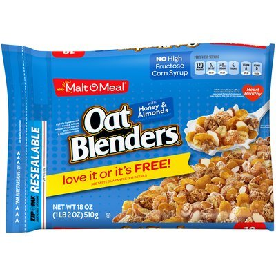 Malt-O-Meal® Oat Blenders® with Honey & Almonds 18 oz. ZIP-PAK®