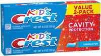 Kids Crest Kids Cavity Protection Sparkle Fun Flavor Toothpaste 4.6 oz TWIN