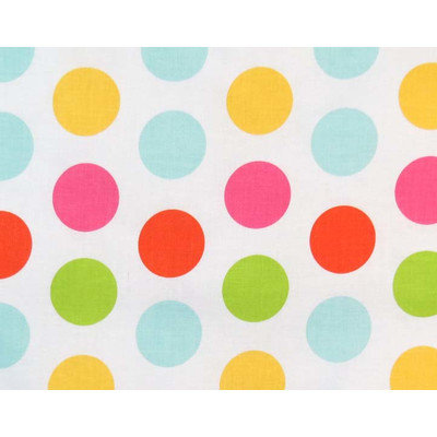 Stwd Large Dots Fitted Bassinet Sheet
