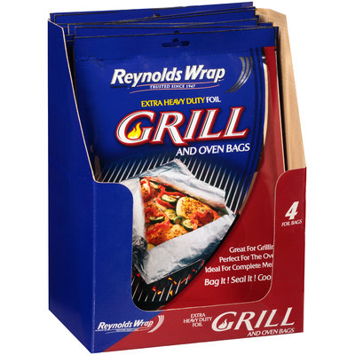 Reynolds Wrap™ Grill and Oven Extra Heavy Duty Foil Bags 4 ct Pack