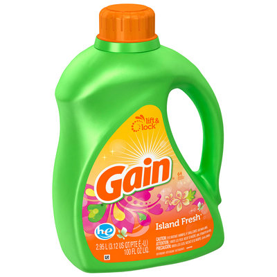 Gain with FreshLock HE Island Fresh Liquid Detergent 100 fl. oz.