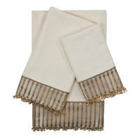 Sherry Kline Hamilton Embellished 3 Piece Towel Set