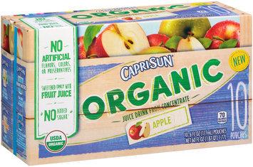 Capri Sun® Organic Apple Juice Drink 10-6 fl. oz. Pouches