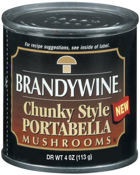 Brandywine Portabella Chunky Style Mushrooms  4 Oz Can