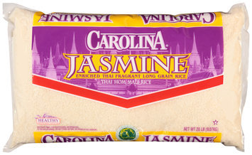 Carolina® Jasmine Enriched Thai Fragrant Long Grain Rice 20 lb. Bag