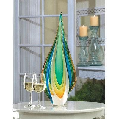 Home Locomotion Twisted Tear Drop Art Glass