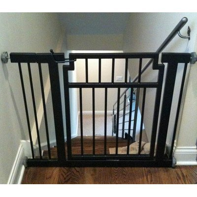 Pets Stop Pet Gate Extension Finish: Black