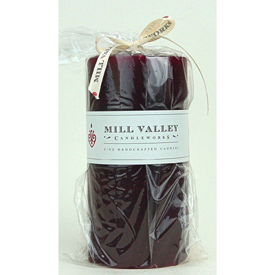Mill Valley Candleworks Cinnamon Cranberry Scented Pillar Candle Size: 6