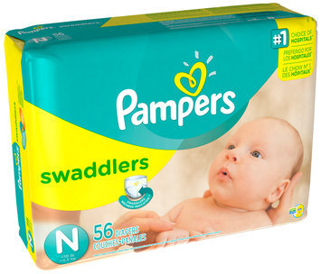 Pampers Swaddlers Mega Pack Newborn Diapers 56 ct Bag