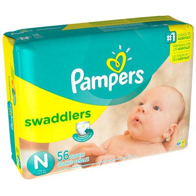 Pampers Swaddlers Mega Pack Newborn Diapers 56 ct Bag