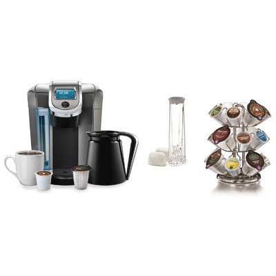 Keurig 2.0 K550 Brewing System with 2.0 Carousel and Water Filter Starter Kit