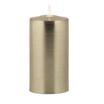 Pacific Accents Solare Gunmetal Flameless Candle