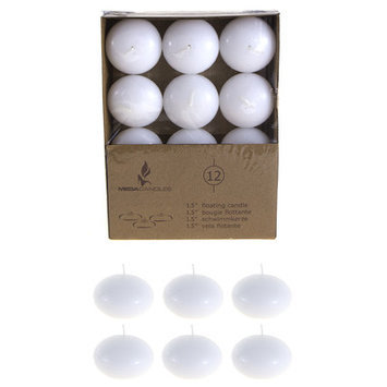 Mega Candles Unscented 1 5 Quot Floating Disc Candles White Set Of 12 HHK0P6R1U-1614