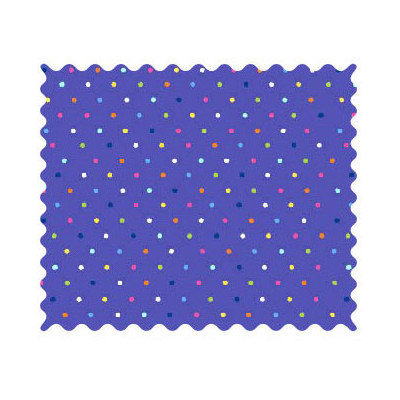 Stwd Primary Pindots Woven Fabric by the Yard Color: Purple