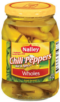 Nalley Wholes Hot & Spicy Chili Peppers 16 Oz Jar