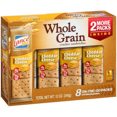 Lance® Whole Grain Cheddar Cheese Cracker Sandwiches 12 oz. Box