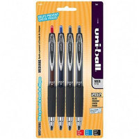 Sanford Gel Pen, Retractable, Refillable, 7mm Point, 4/PK, Assorted