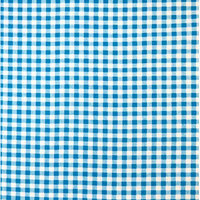 Stwd Gingham Check Playard Fitted Sheet Color: Turquoise