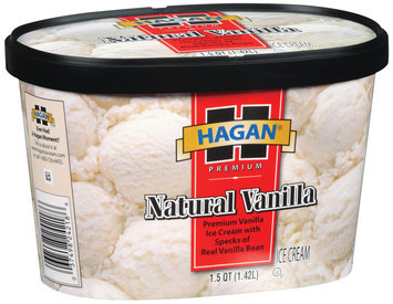 Hagan Natural Vanilla  Ice Cream 1.5 Qt Carton