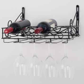 Concept Housewares 4 Bottle Wall Mount Wine Rack