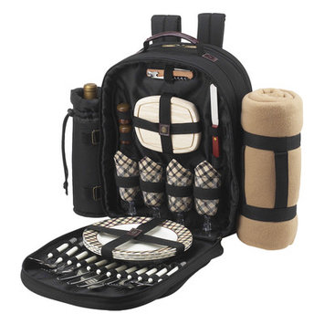 Picnic at Ascot London Backpack For Four with Blanket