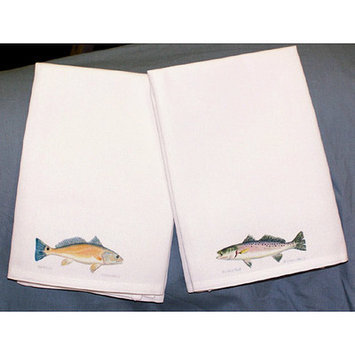 Betsy Drake Interiors Coastal Speckled Trout Hand Towel (Set of 2)