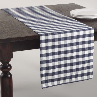 Saro Gingham Design Runner