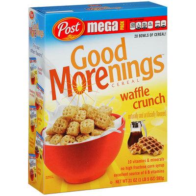 Post™ Good Morenings™ Waffle Crunch Cereal 21 oz. Box