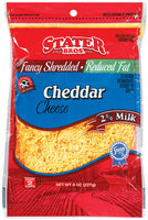 Stater Bros. Cheddar Fancy Shredded Cheese 8 Oz Peg